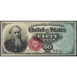 March 3, 1863 50 Cents Fourth Issue Stanton Fractional Currency Note