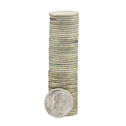 Roll of (50) 1946 Brilliant Uncirculated Roosevelt Dimes