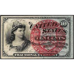 March 3, 1863 10 Cents Fourth Issue Fractional Currency Note