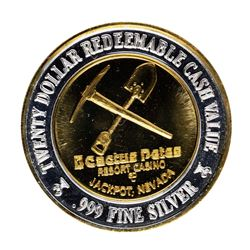 .999 Silver Cactus Pete's Jackpot, Nevada $20 Casino Limited Edition Gaming Toke