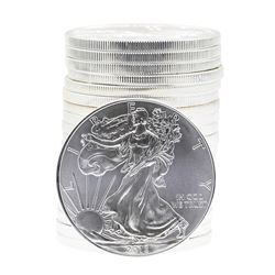 Roll of (20) 2013 $1 American Silver Eagle Brilliant Uncirculated Coins