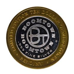 .999 Silver Boomtown Hotel and Casino $10 Casino Limited Edition Gaming Token