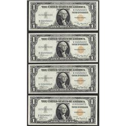 Lot of (4) 1935A $1 North Africa Emergency WWII Silver Certificate Notes