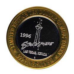 .999 Silver The Stratosphere Las Vegas, NV $10 Casino Limited Edition Gaming Tok