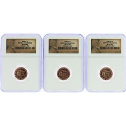 Lot of (3) 2009-D Birth & Childhood Lincoln Cent Coins PCGS MS65RD