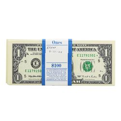 Pack of (100) Consecutive 1995 $1 Federal Reserve STAR Notes Richmond