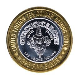.999 Silver Circus Circus Hotel & Casino Las Vegas $10 Limited Edition Gaming To