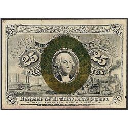 March 3, 1863 25 Cents Second Issue Fractional Currency Note