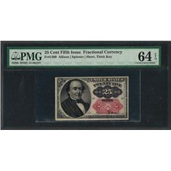 1874 25 Cent Fractional Currency Note Fr.1309 PCGS Choice Uncirculated 64EPQ