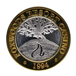 .999 Silver Foxwoods Resort Maine Casino $10 Limited Edition Gaming Token