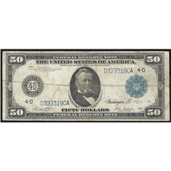 1914 $50 Federal Reserve Note Cleveland