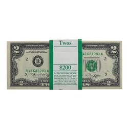 Pack of (100) Consecutive 1976 $2 Federal Reserve Notes New York
