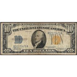 1934A $10 Silver Certificate WWII Emergency North Africa Note