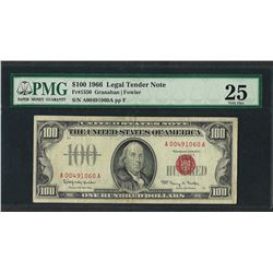1966 $100 Legal Tender Note Fr.1550 PMG Very Fine 25