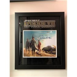 Star Wars: The Force Awakens Autographed Poster