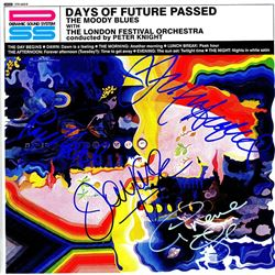The Moody Blues Band Signed Days Of Future Passed Album