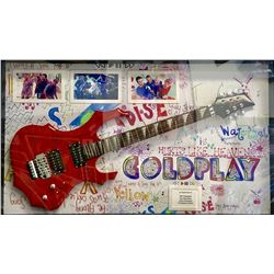 Coldplay Autographed Guitar