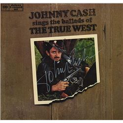 Johnny Cash Signed Sings The Ballads Of The True West Album