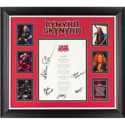 "Lynyrd Skynyrd ""Free Bird"" Signed Lyrics"