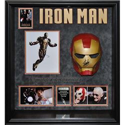 Iron Man Mask Signed Collage