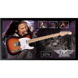Steven Tyler Signed and Framed Guitar