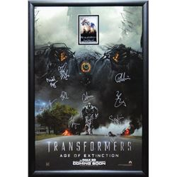 Transformers Age of Extinction Signed Movie Poster