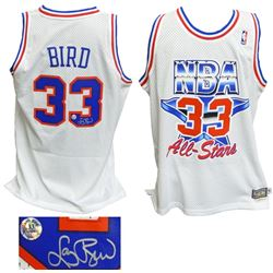 Larry Bird Signed Eastern Conference 1992 All Star Game Official Adidas White Throwback Swingman Jer