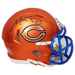 Mitchell Trubisky Signed Chicago Bears Blaze Riddell Speed Mini Helmet