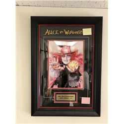 Alice in Wonderland Signed Johnny Depp Film Portrait