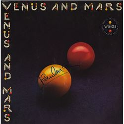 "Paul McCartney Signed ""Venus And Mars"" Album"