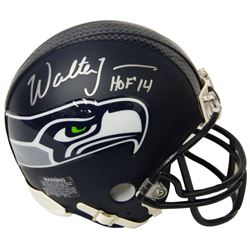 Walter Jones Signed Seattle Seahawks Riddell Mini Helmet w/HOF'14