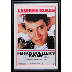 Ferris Bueller Signed Movie Poster