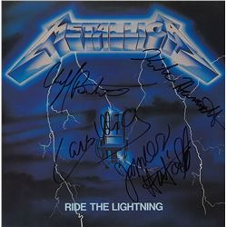 Metallica Band Signed Ride The Lightning Album