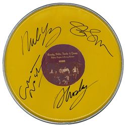 Crosby Stills Nash & Young Signed Drum Head