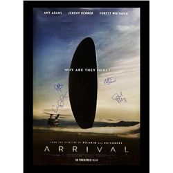 Arrival Signed Movie Poster