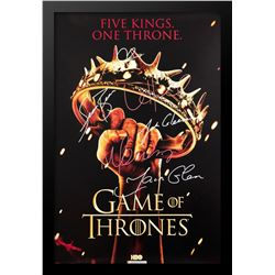 "Game of Thrones ""Five Kings. One Throne.""  Signed Poster"
