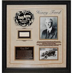 Henry Ford Signed Collage
