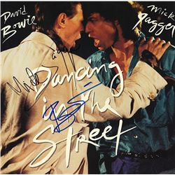 Mick Jagger David Bowie Signed Dancing In The Streets Album