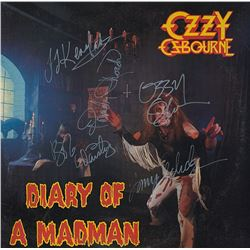 Ozzy Osbourne Band Signed Diary Of A Madman Album