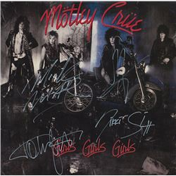 Motley Crue Band Signed Girls Girls Girls Album