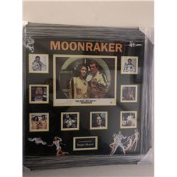 "James Bond - ""Moonraker"" Signed Collage"
