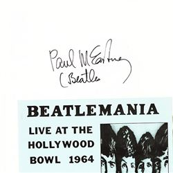 "Paul McCartney Signed ""Beatlemania"" Ticket"