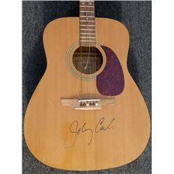 Johnny Cash Signed Acoustic Guitar