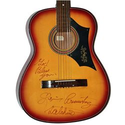 Louis Armstrong Signed Acoustic Guitar