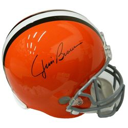 Jim Brown Signed Cleveland Browns Riddell Full Size Replica Helmet