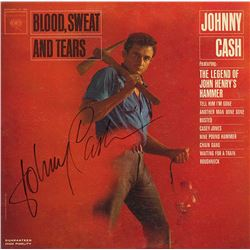 Johnny Cash Signed Blood, Sweat, and Tears Album