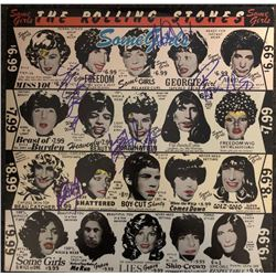 The Rolling Stones Band Signed Some Girls Album