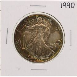 1990 $1 American Silver Eagle Coin Nice Toning