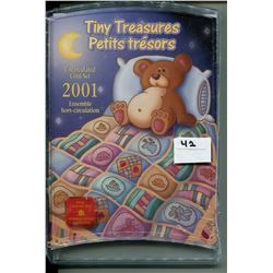 2001 RCM TINY TREASURES UNCIRCULATED COIN SET PENNY TO TOONEY