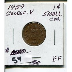 1929 CNDN GEORGE V SMALL PENNY